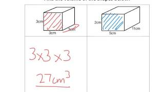 Volume of Cubes and Cuboids - Tutorial