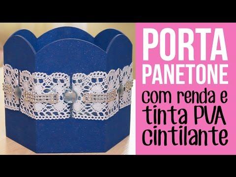 Porta Panetone Azul