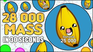 MY WORLD RECORD! 28 000+ MASS IN 32 SECONDS IN AGARIO! (THE MOST ADDICTIVE GAME EVER - AGAR.IO #29)