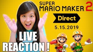 LIVE REACTION! Super Mario Maker 2 Direct 5.15.2019