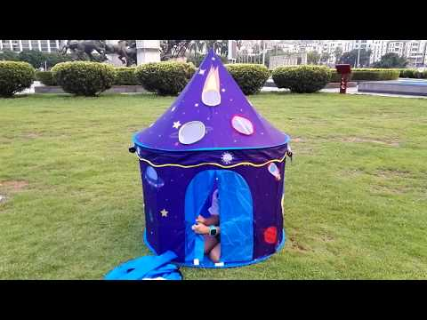 How to set up homfu kids castle space tent for boys girls child playhouse gift for birthday toddlers