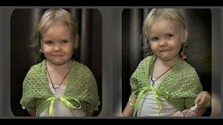 болеро крючком на девочку 3 -  4 лет, вязание крючком