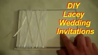DIY Wedding Invitations With Lace