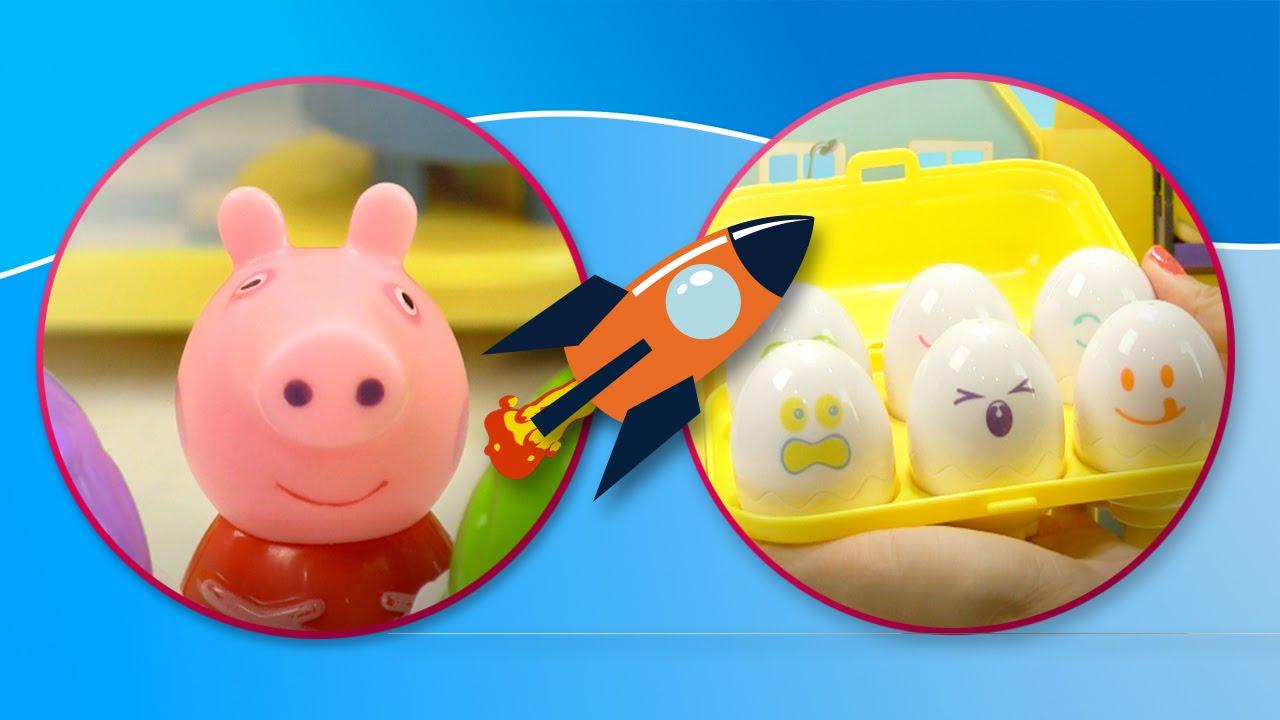 Casa de Peppa Pig y los huevos sorpresa | Juguetes de Peppa Pig
