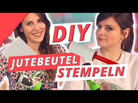 DIY Jutebeutel selbst bedruckt - DIY or DI-Don't w/ Holy Chic