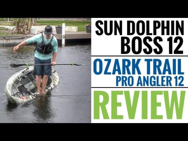 Sun Dolphin Boss 12 SS & Ozark Trail Pro Angler Kayak: FULL REVIEW