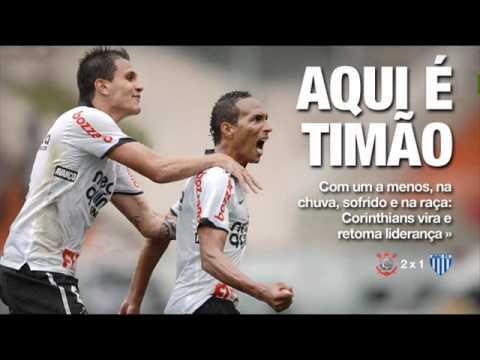 Narração da rádio globo do jogo entre Corinthians e Avaí