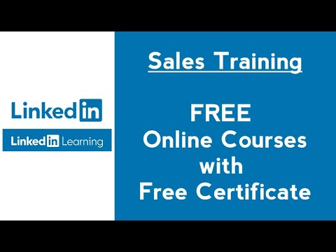 Free Sales Training Courses with Certificate in LinkedIn Learning ...