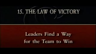"Law #15- ""The Law of Victory"" by John C. Maxwell"