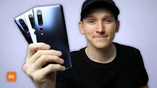 Xiaomi Mi 10 Pro 5G vs Xiaomi Mi 10 5G vs Xiaomi Mi Note 10