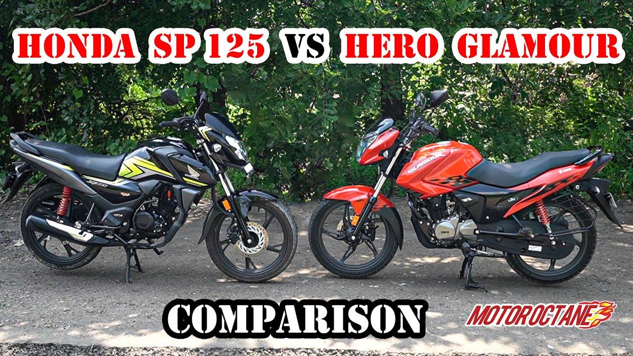 Motoroctane Youtube Video - Hero Glamour VS Honda SP 125 - Best 125cc commuter | Hindi | MotorOctane