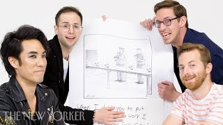 The Try Guys Enter The New Yorker Cartoon Caption Contest | The New Yorker