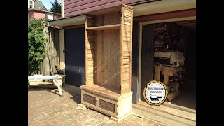 Woodworking : DIY Hall Tree Storage Rack // How-To Part 1