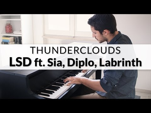 LSD - Thunderclouds feat. Sia, Diplo, Labrinth | Piano Cover