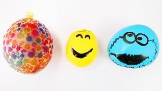 Orbeez Ball, Emoji und Krümelmonster Antistressball im Vergleich