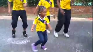 Kid dancing salsa