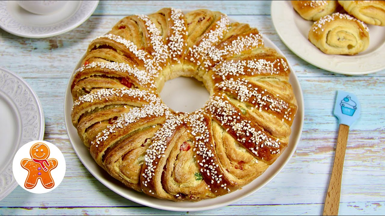 Праздничный Пирог с Кремом и Цукатами