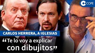 La demoledora lección de Herrera a Iglesias tras la marcha del Rey