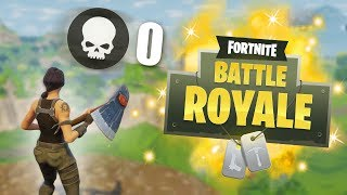 WINNING A GAME WITHOUT FIRING A SINGLE SHOT CHALLENGE! | Fortnite Battle Royale