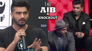 Arjun Kapoor FINALLY SPEAKS About AIB Knockout Roast Controversy UNCUT FOOTAGE