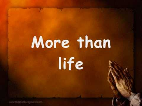More than life by hillsong with lyrics