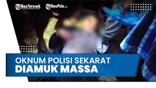Rampok Motor Warga, Oknum Anggota Polres Pelabuhan Belawan Sekarat Diamuk Massa
