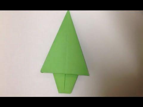 Faire un sapin en origami