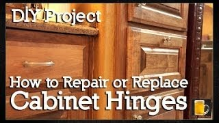 How to repair or replace Cabinet Hinges (European Cabinet Hinges)