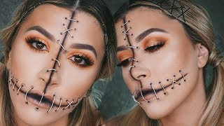 Voodoo Doll Halloween Makeup Tutorial | Vicky Alvarez