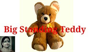 Handmade Big Standing Teddy Soft Toys Making / Debjani Creations Tutorial