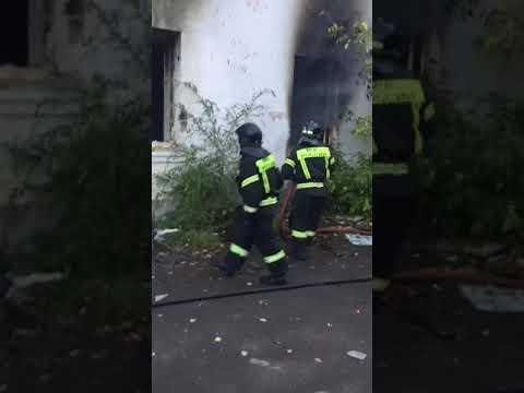 Пожар в заброшенном общежитии Ленинского района г.Челябинск