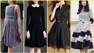 Top Class Flattering Below Knee Length Casual Midi Dresses Frocks & Shirts Design Ideas 2020