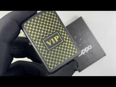 28531 Зажигалка Zippo Vip, Black Matte