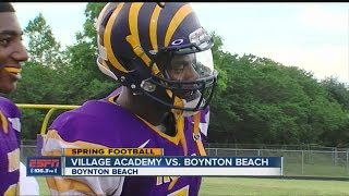 HS Spring Football: Village Academy vs. Boynton Beach