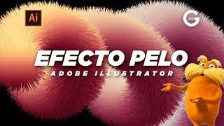 Illustrator Tutorial | Cómo Crear Efecto Pelo 3D | How To Create A 3D Hairy (Fluffy Fur) Effect