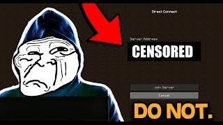 DO NOT JOIN THIS MINECRAFT SERVER!!! (I'M SERIOUS!)