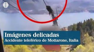 Imágenes delicadas del fatal accidente del teleférico de Mottarone