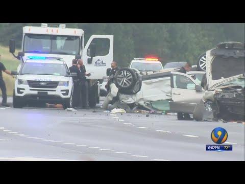 Woman killed, 2 injured in violent I-485 crash in south Charlotte