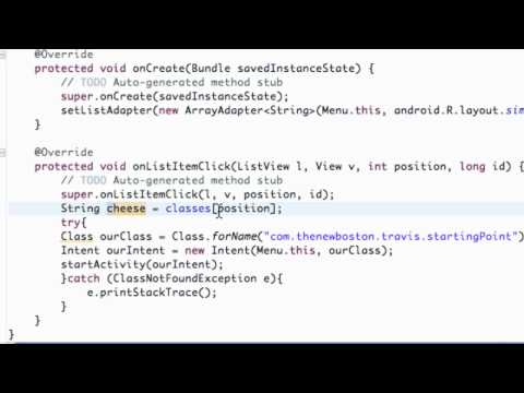 Android Application Development Tutorial - 21 - Finishing ListActivity
