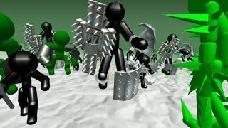 Стикмен Симулятор: Зомби битва [Шипастые орки и великаны]