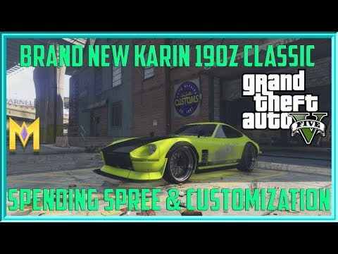 "GTA 5 Online NEW $1.25M DLC CAR ""New Karin 190z Customization"" New Drift Car Gameplay"