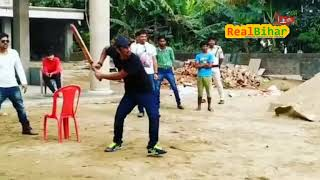 Sushant Singh Rajput playing cricket