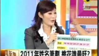 吳美玲姓名學分析-2011年姓名筆劃 桃花誰最旺