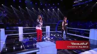 "Mariana Bandhold VS Filipa Henriques - ""Beautiful"" - Batalha - The Voice Portugal - S2"