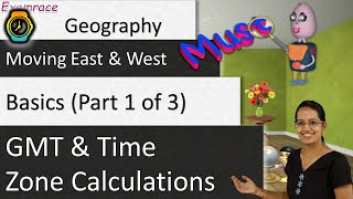 🌎 GMT and Time Zone Calculations (Moving East and West) - Basics (Part 1 of 3)