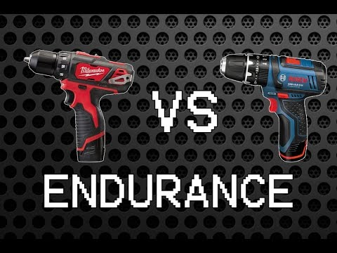 Milwaukee M12 BDD vs Bosch GSB 10,8-2-LI [12/10,8V Endurance Part 2]
