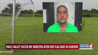 Referee arrested after allegedly firing gun during soccer game in Pauls Valley