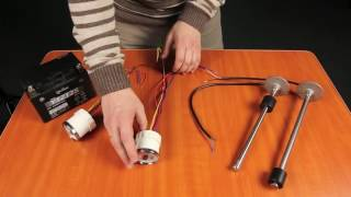 Как поставить датчик топлива на мотоцикл
