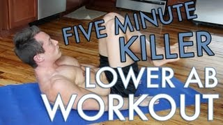 5 Minute Lower Ab Workout! by daveywaveyfitness