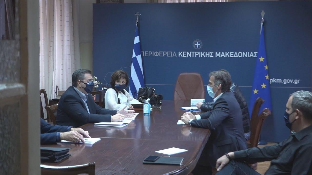 Θεσσαλονίκη: Συνάντηση του Απ.Τζιτζικώστα  με τον Παναγιώτη Αρκουμανέα